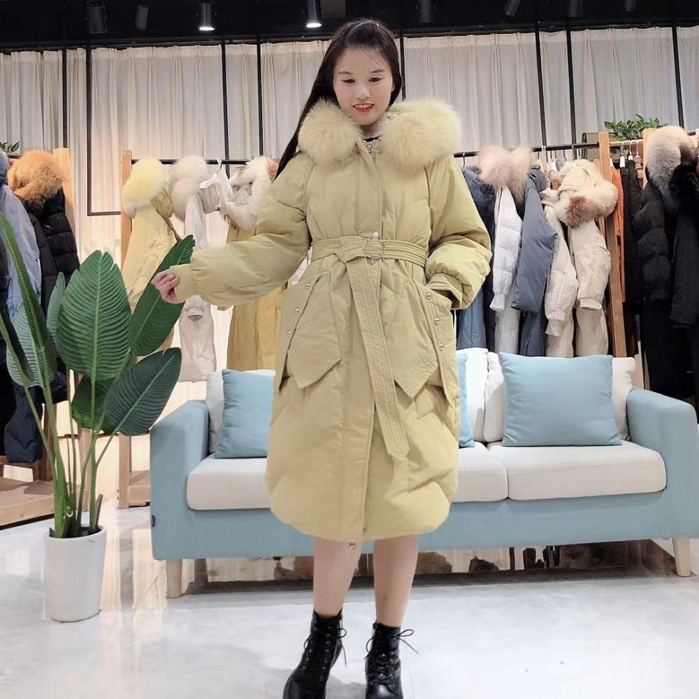 奢华大毛领羽绒服2020年冬装新款