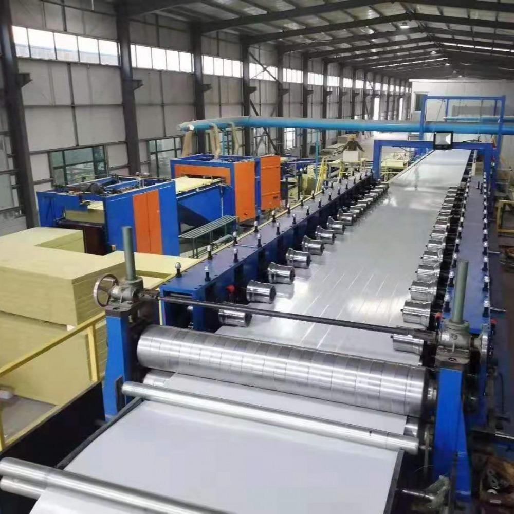 聚氨酯冷库板/彩钢板/聚氨酯封边岩棉夹芯板生产设备租赁,现场加工
