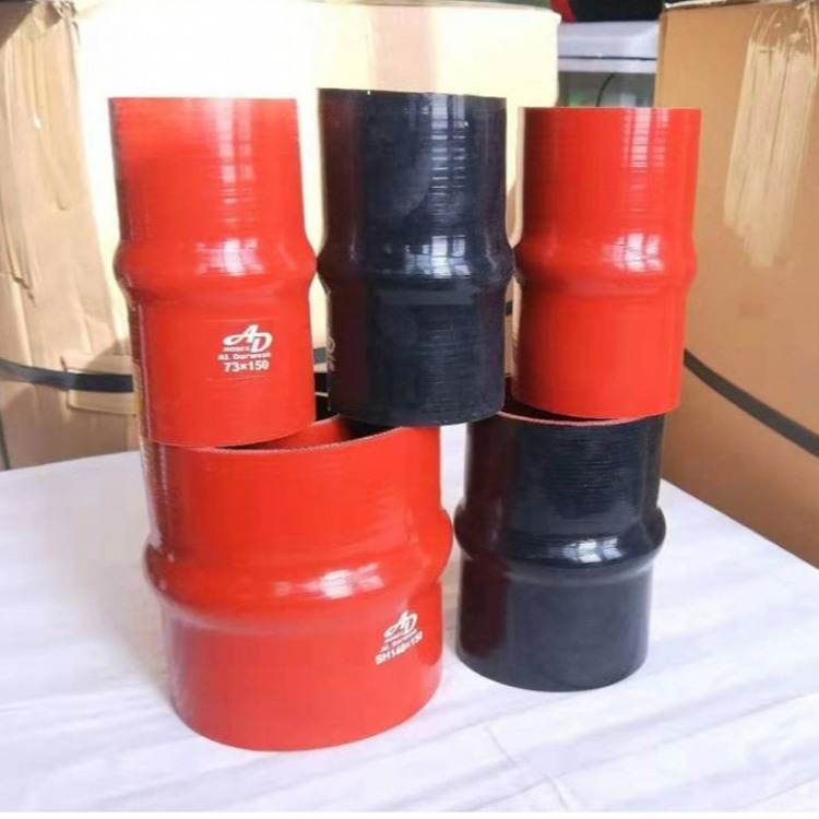 汽车硅胶管进气管改装涡轮增压中冷器耐高温米管软管红色夹线水管