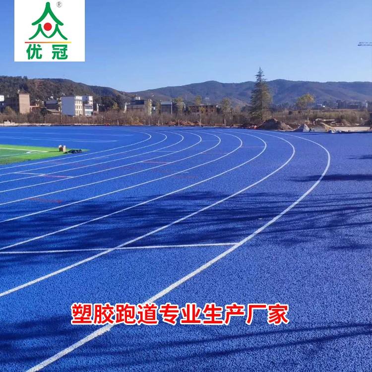 新国标塑胶跑道 塑胶跑道每平米报价专业塑胶跑道厂家-优冠